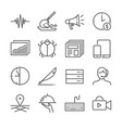 freelance jobs line icon set 2 vector image vector image