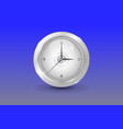 glass white shinny clock vector image vector image