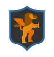 griffin shield heraldic symbol sign animal for vector image vector image