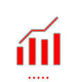 growth chart it is icon vector image