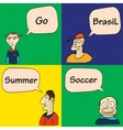 Guys talking about soccer in Brasil vector image