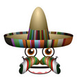 happy expression with traditional hat vector image vector image