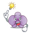 have an idea orchid flower mascot cartoon vector image