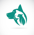 image an dog cat and bird vector image vector image