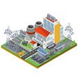 isometric of a thermal power vector image