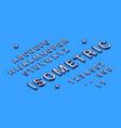 isometric typography font vector image