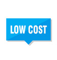 low cost price tag vector image vector image