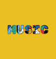 music concept word art vector image vector image