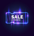 neon poster sale tickets modern graphics vector image vector image