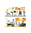 office team two set vector image