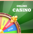online casino and wheel banner vector image vector image