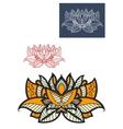 Oriental paisley flower with openwork petals vector image vector image