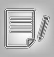 paper and pencil sign pencil sketch vector image vector image