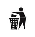 paper bin icon vector image vector image