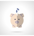 Pink piggy bank flat color design icon vector image