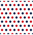red and blue polka dots seamless pattern vector image vector image