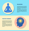relaxation and positive thinking concept flyer vector image