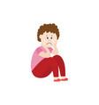 sad child victim bullying flat vector image vector image