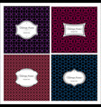 seamless geometric vintage patterns with frame vector image