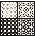 Set of Four Seamless Islamic Stars vector image vector image