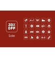 Set of sale simple icons vector image vector image