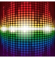 Shining rainbow digital equalizer with flares on vector image