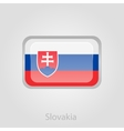 Slovakia flag button vector image vector image