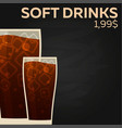 soft drinks price fast food restauran menu vector image