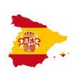 spain map with spain flag inside vector image vector image