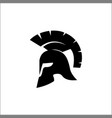 spartan helmet silhouette helmet icon black vector image