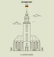 st catherines church in frankfurt vector image vector image