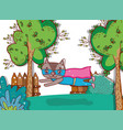 superhero bear cartoon vector image