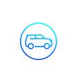 suv car simple line icon vector image vector image
