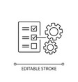 technical task pixel perfect linear icon vector image