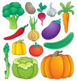 vegetable theme collection 1 vector image