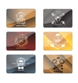 VIP club members only premium cards set vector image vector image