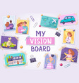 vision board poster vector image vector image