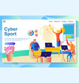 website page about cyber activities people vector image vector image