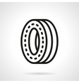 Wheel for skateboard black line design icon vector image vector image