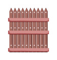 wooden fence isolated icon vector image