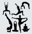 yoga sport silhouette vector image vector image