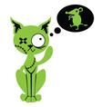 Zombie cat vector image vector image