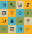 set of 16 authority icons includes opinion vector image