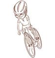 A plain sketch of a cyclist vector image vector image