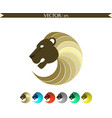 abstract lion logo gold edition vector image