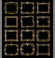 art deco gold frames golden luxury vintage vector image