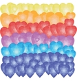 Balloons hearts low poly pattern vector image