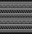 Black and white ikat tribal seamless pattern