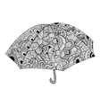 Black and white umbrella vector image