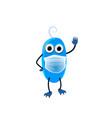 cute blue monster waving hand childish cartoon vector image